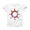 The Nautical Watercolor Pen Wheel ink-Fuzed Front Spot Graphic Unisex Soft-Fitted Tee Shirt