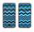 The Navy Blue Thin Lined Chevron Pattern V2 Apple iPhone 6 Plus LifeProof Nuud Case Skin Set