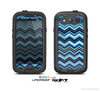 The Navy Blue Thin Lined Chevron Pattern V2 Skin For The Samsung Galaxy S3 LifeProof Case