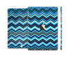 The Navy Blue Thin Lined Chevron Pattern V2 Full Body Skin Set for the Apple iPad Mini 3