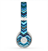 The Navy Blue Thin Lined Chevron Pattern V2 Skin for the Beats by Dre Solo 2 Headphones