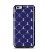 The Navy Blue & White Seamless Anchor Pattern Apple iPhone 6 Plus Otterbox Symmetry Case Skin Set