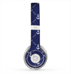 The Navy Blue & White Seamless Anchor Pattern Skin for the Beats by Dre Solo 2 Headphones