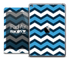 The Navy Blue and White Chevron Skin for the iPad Air