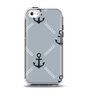 The Navy & Gray Vintage Solid Color Anchor Linked Apple iPhone 5c Otterbox Symmetry Case Skin Set