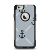The Navy & Gray Vintage Solid Color Anchor Linked Apple iPhone 6 Otterbox Commuter Case Skin Set