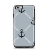 The Navy & Gray Vintage Solid Color Anchor Linked Apple iPhone 6 Plus Otterbox Symmetry Case Skin Set