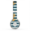 The Navy Striped with Gold Anchors Skin for the Beats by Dre Solo 2 Headphones