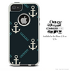 The Navy Vintage Anchor Skin For The iPhone 4-4s or 5-5s Otterbox Commuter Case