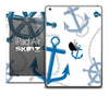 The Navy & White Nautical Skin for the iPad Air