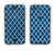 The Navy & White Seamless Morocan Pattern Apple iPhone 6 Plus LifeProof Nuud Case Skin Set