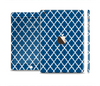 The Navy & White Seamless Morocan Pattern Full Body Skin Set for the Apple iPad Mini 3