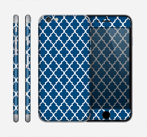 The Navy & White Seamless Morocan Pattern Skin for the Apple iPhone 6