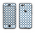 The Navy & White Seamless Morocan Pattern V2 Apple iPhone 6 Plus LifeProof Nuud Case Skin Set