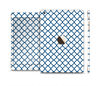 The Navy & White Seamless Morocan Pattern V2 Full Body Skin Set for the Apple iPad Mini 3