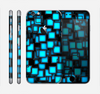 The Neon Blue Abstract Cubes Skin for the Apple iPhone 6