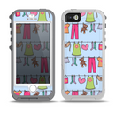 The Neon Clothes Line Pattern Skin for the iPhone 5-5s OtterBox Preserver WaterProof Case