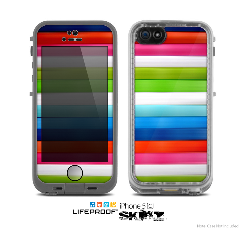 The Neon ColorBar Skin for the Apple iPhone 5c LifeProof Case
