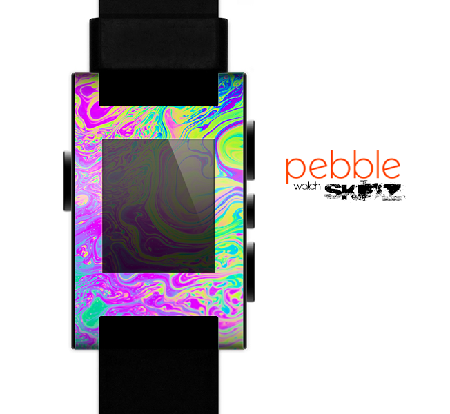 The Neon Color Fushion Skin for the Pebble SmartWatch for the Pebble Watch