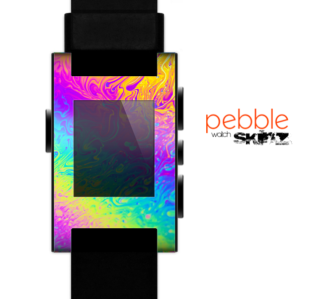 The Neon Color Fushion V2 Skin for the Pebble SmartWatch