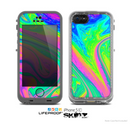 The Neon Color Fushion V3 Skin for the Apple iPhone 5c LifeProof Case