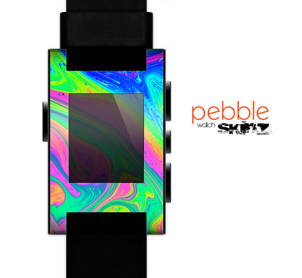 The Neon Color Fushion V3 Skin for the Pebble SmartWatch