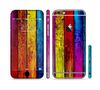 The Neon Color Wood Planks Sectioned Skin Series for the Apple iPhone 6 Plus