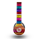 The Neon Color Wood Planks Skin for the Beats by Dre Original Solo-Solo HD Headphones
