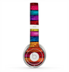 The Neon Color Wood Planks Skin for the Beats by Dre Solo 2 Headphones
