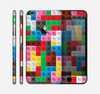 The Neon Colored Building Blocks Skin for the Apple iPhone 6 Plus