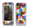 The Neon Colored Building Blocks Skin for the iPhone 5-5s OtterBox Preserver WaterProof Case