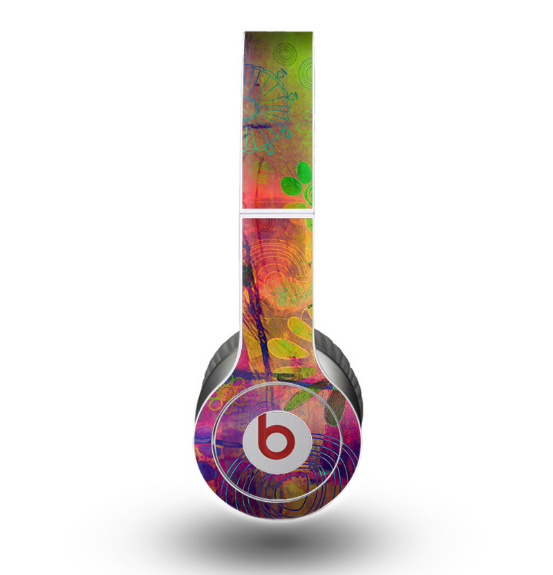 The Neon Colored Grunge Surface Skin for the Beats by Dre Original Solo-Solo HD Headphones