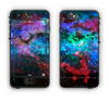 The Neon Colored Paint Universe Apple iPhone 6 Plus LifeProof Nuud Case Skin Set