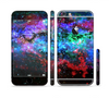 The Neon Colored Paint Universe Sectioned Skin Series for the Apple iPhone 6 Plus