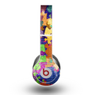 The Neon Colored Puzzle Pieces Skin for the Beats by Dre Original Solo-Solo HD Headphones