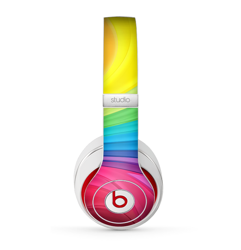The Neon Colored Swirled Skin for the Beats by Dre Studio (2013+ Version) Headphones
