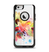 The Neon Colored Watercolor Branch Apple iPhone 6 Otterbox Commuter Case Skin Set