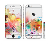 The Neon Colored Watercolor Branch Sectioned Skin Series for the Apple iPhone 6 Plus