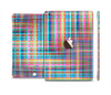 The Neon Faded Rainbow Plaid Full Body Skin Set for the Apple iPad Mini 3