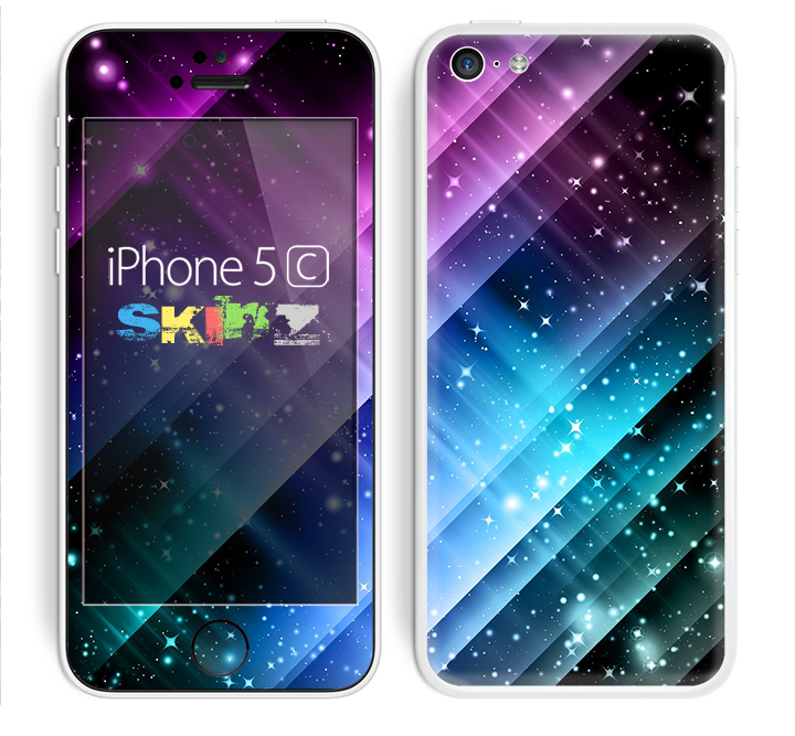 The Neon Glow Paint Skin for the Apple iPhone 5c