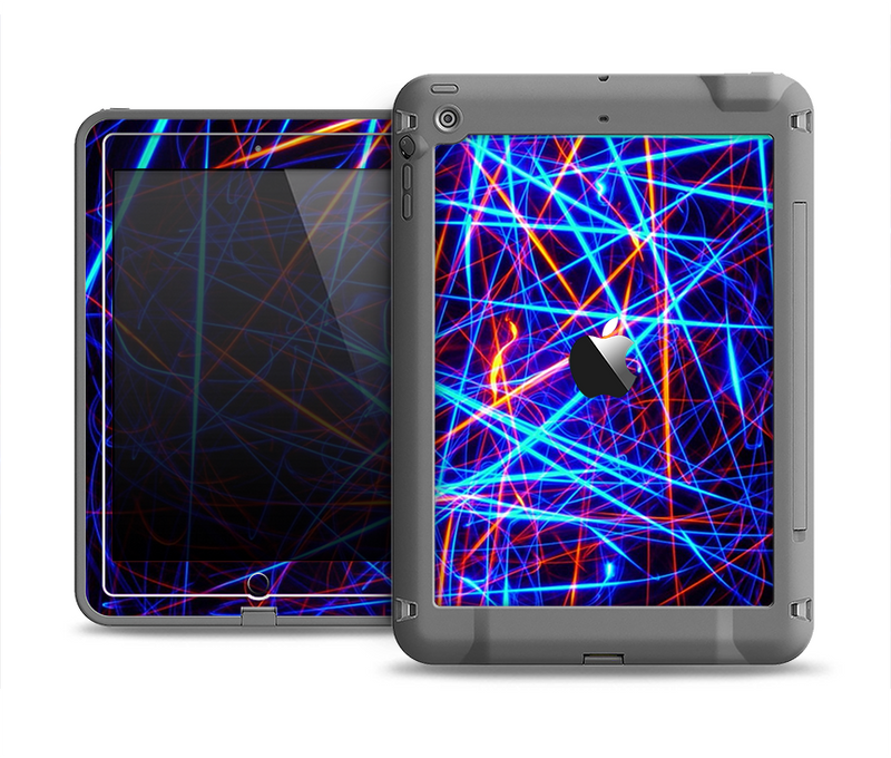 The Neon Glowing Strobe Lights Apple iPad Air LifeProof Fre Case Skin Set
