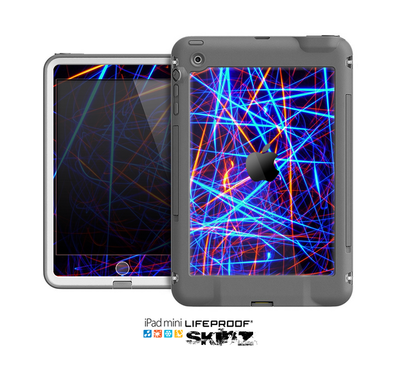 The Neon Glowing Strobe Lights Skin for the Apple iPad Mini LifeProof Case
