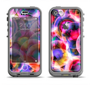 The Neon Glowing Vibrant Cells Apple iPhone 5c LifeProof Nuud Case Skin Set