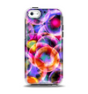 The Neon Glowing Vibrant Cells Apple iPhone 5c Otterbox Symmetry Case Skin Set