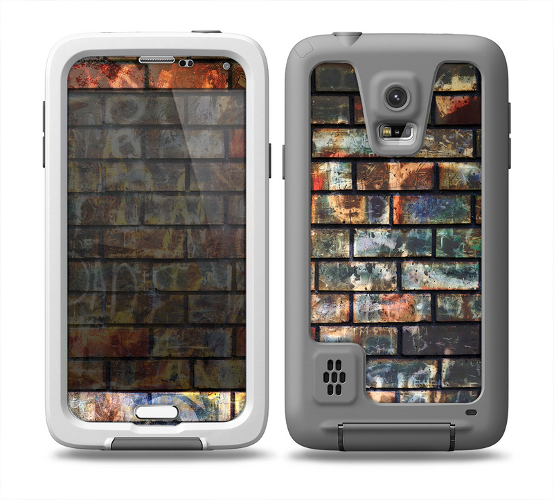 The Neon Graffiti Brick Wall Skin for the Samsung Galaxy S5 frē LifeProof Case