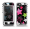 The Neon Highlighted Polka Stars On Black Skin for the iPhone 5-5s OtterBox Preserver WaterProof Case