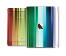 The Neon Horizontal Color Strips Full Body Skin Set for the Apple iPad Mini 3