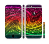 The Neon Mixed Color Starry Waves Sectioned Skin Series for the Apple iPhone 6 Plus