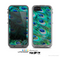 The Neon Multiple Peacock Skin for the Apple iPhone 5c LifeProof Case