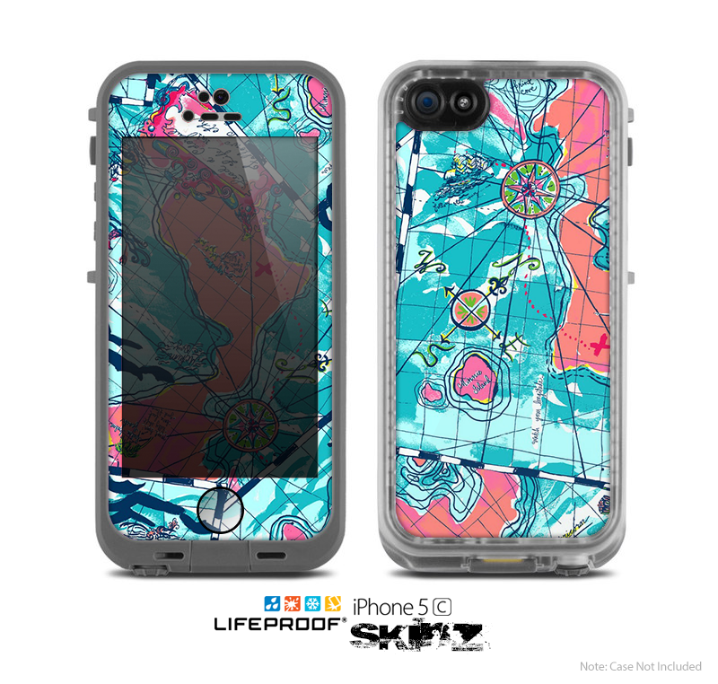 The Neon Navigation Skin for the Apple iPhone 5c LifeProof Case